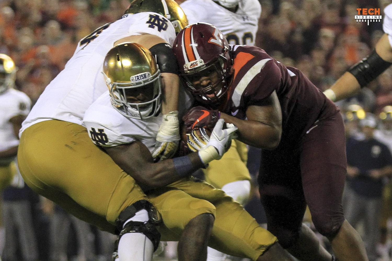 Notre Dame Runs Away From Virginia Tech 45 23 Techsideline Com