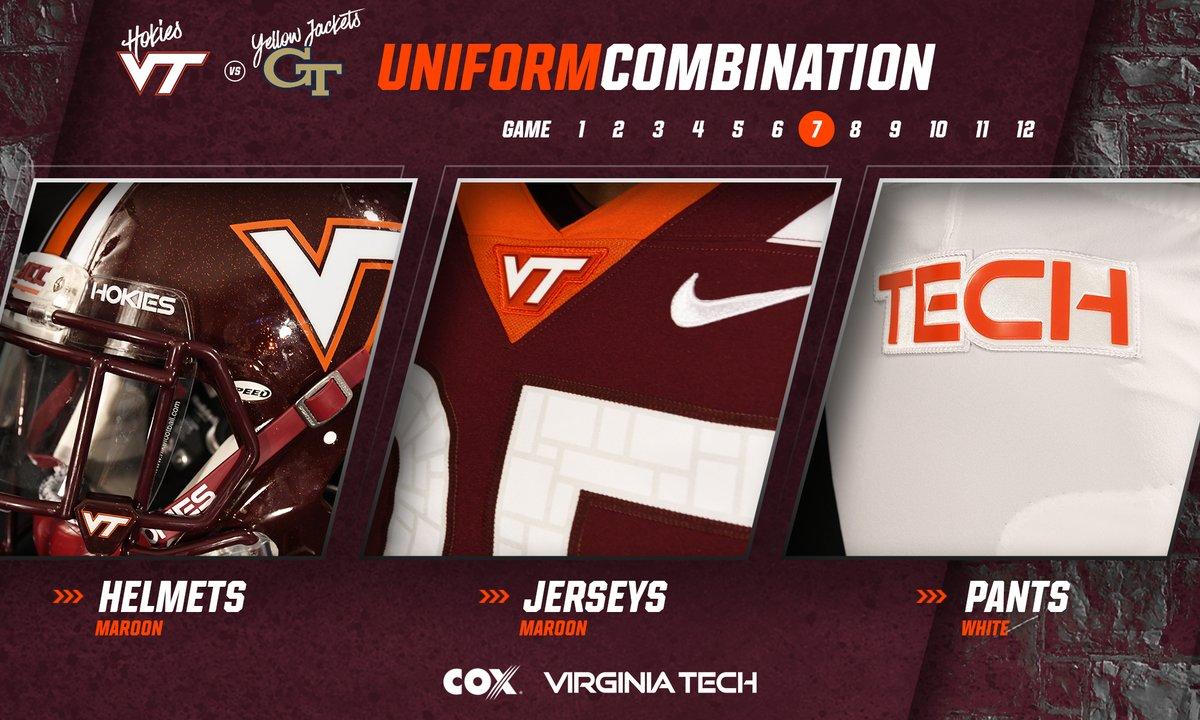 Uniform reveal 2018 Virginia Tech Georgia Tech