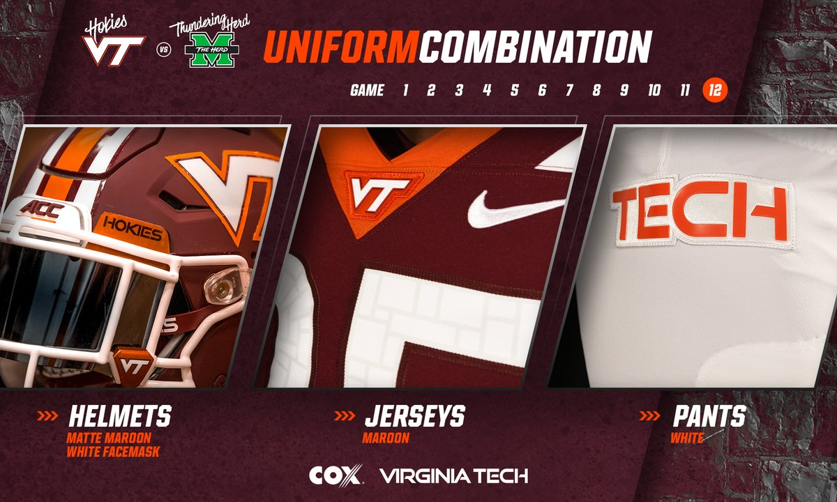 Uniform Reveal Virginia Tech vs. Marshall 2018