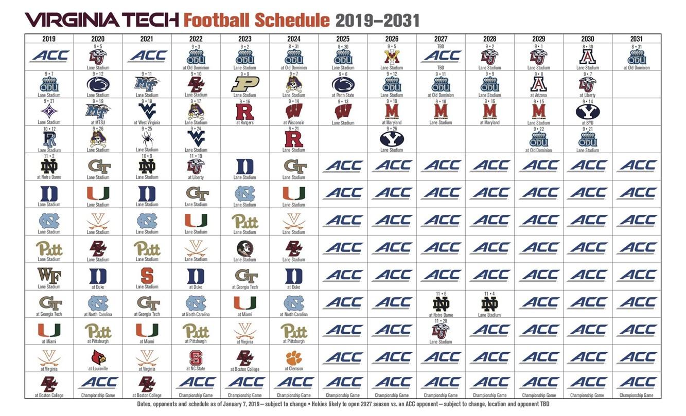 Virginia Tech Calendar Fall 2022.Virginia Tech Adds Rhode Island To 2019 Football Schedule Techsideline Com