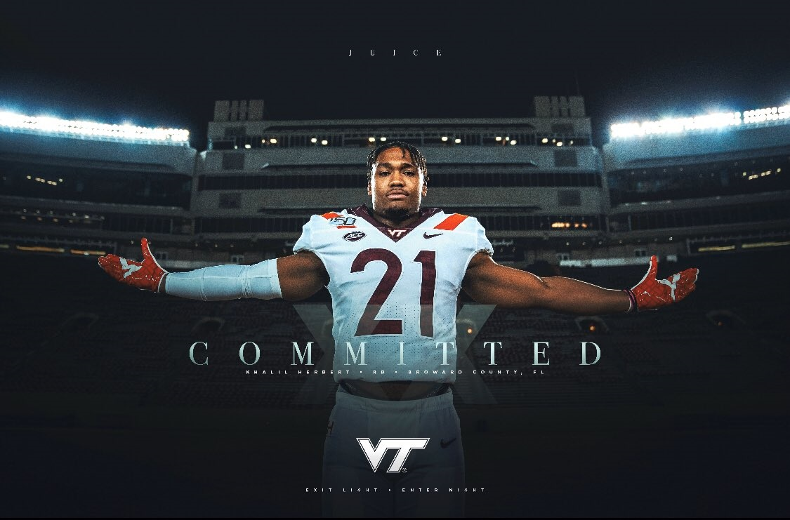 Virginia Tech Graduation 2020.Virginia Tech Adds Khalil Herbert As Graduate Transfer