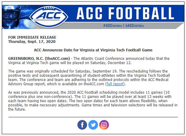 Virginia Tech game date