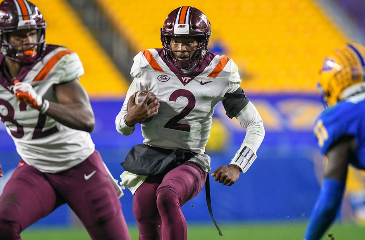 Virginia Tech Quarterback Hendon Hooker