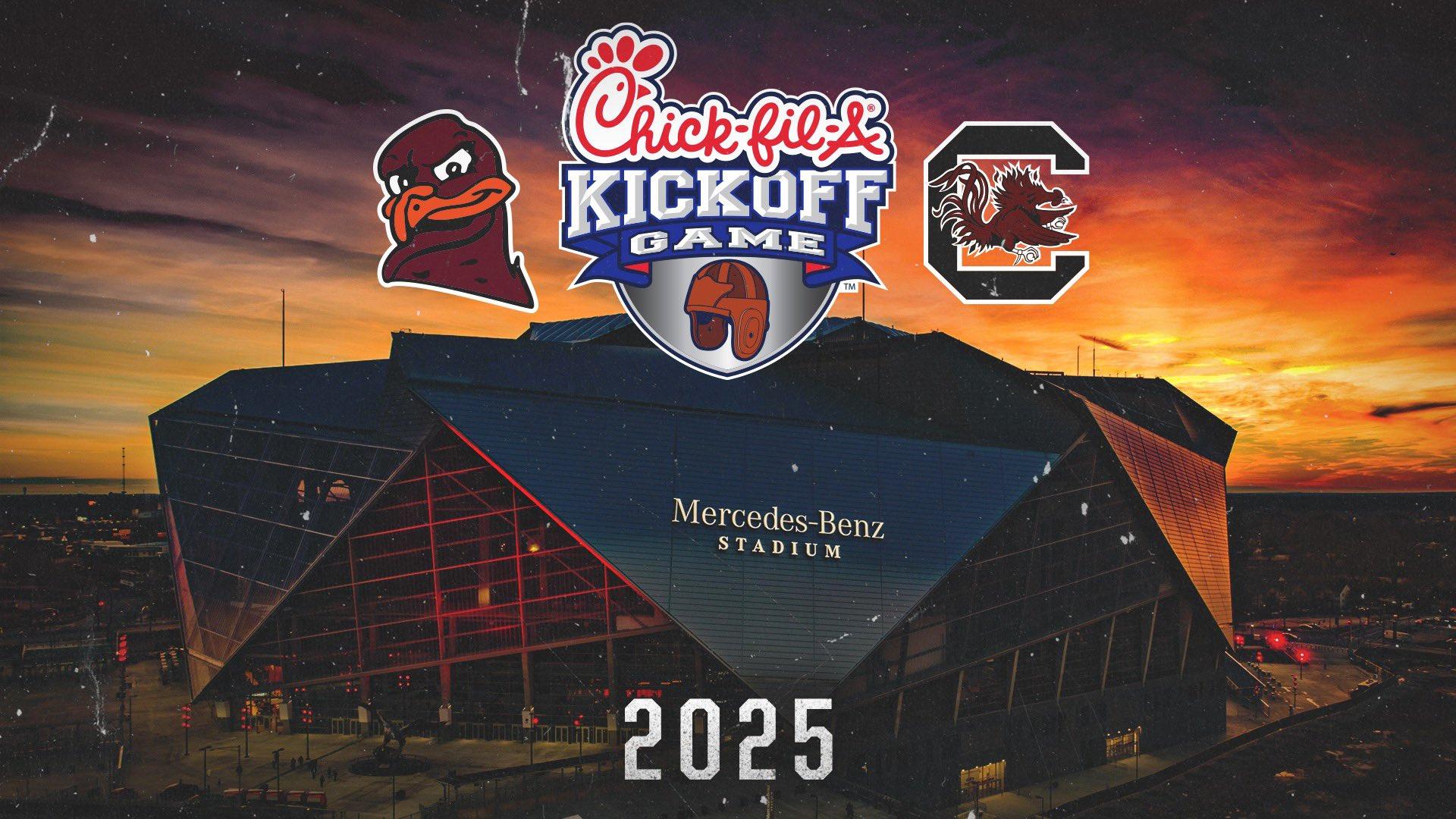 Virginia Tech South Carolina 2025 Chick-fil-A Kickoff Game