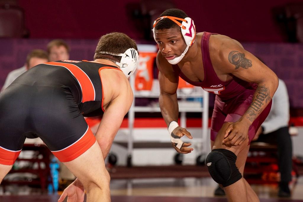 Mekhi Lewis Virginia Tech Wrestling