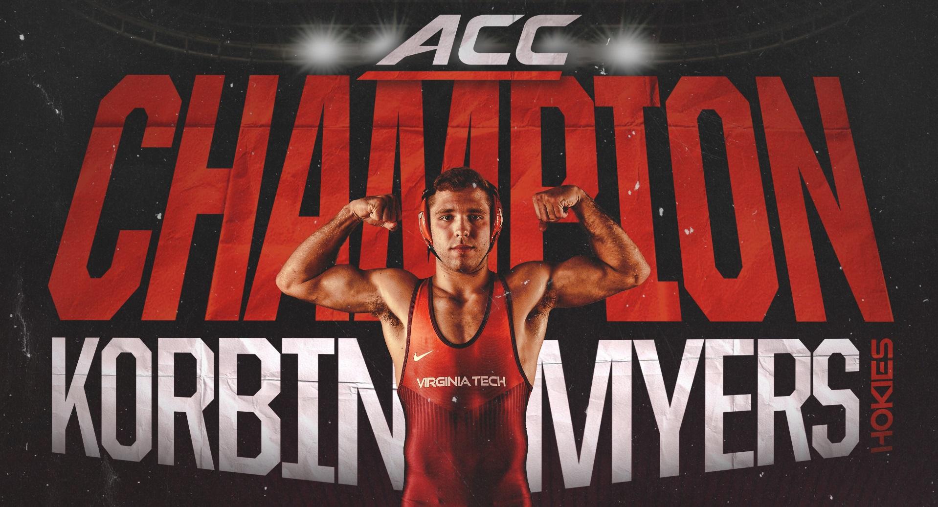 Virginia Tech Wrestling Korbin Myers)