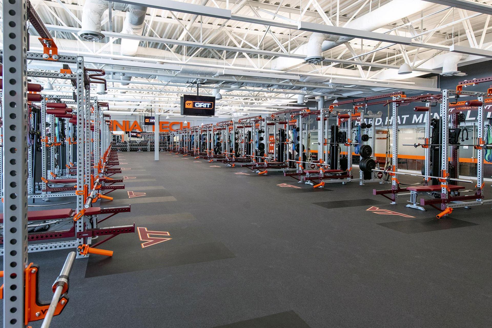 Virginia Tech Merryman Center weight room