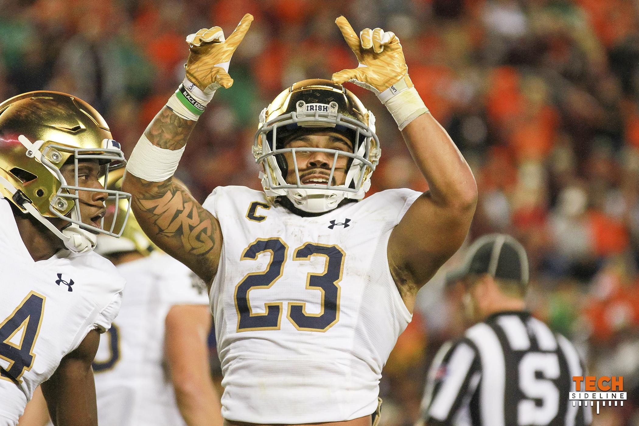 Kyren Williams Notre Dame Virginia Tech